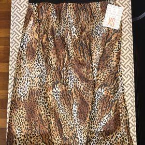 XS LuLaRoe Lola Skirt NWT Leopard Print